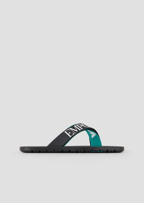 Logoed flip-flops in PVC