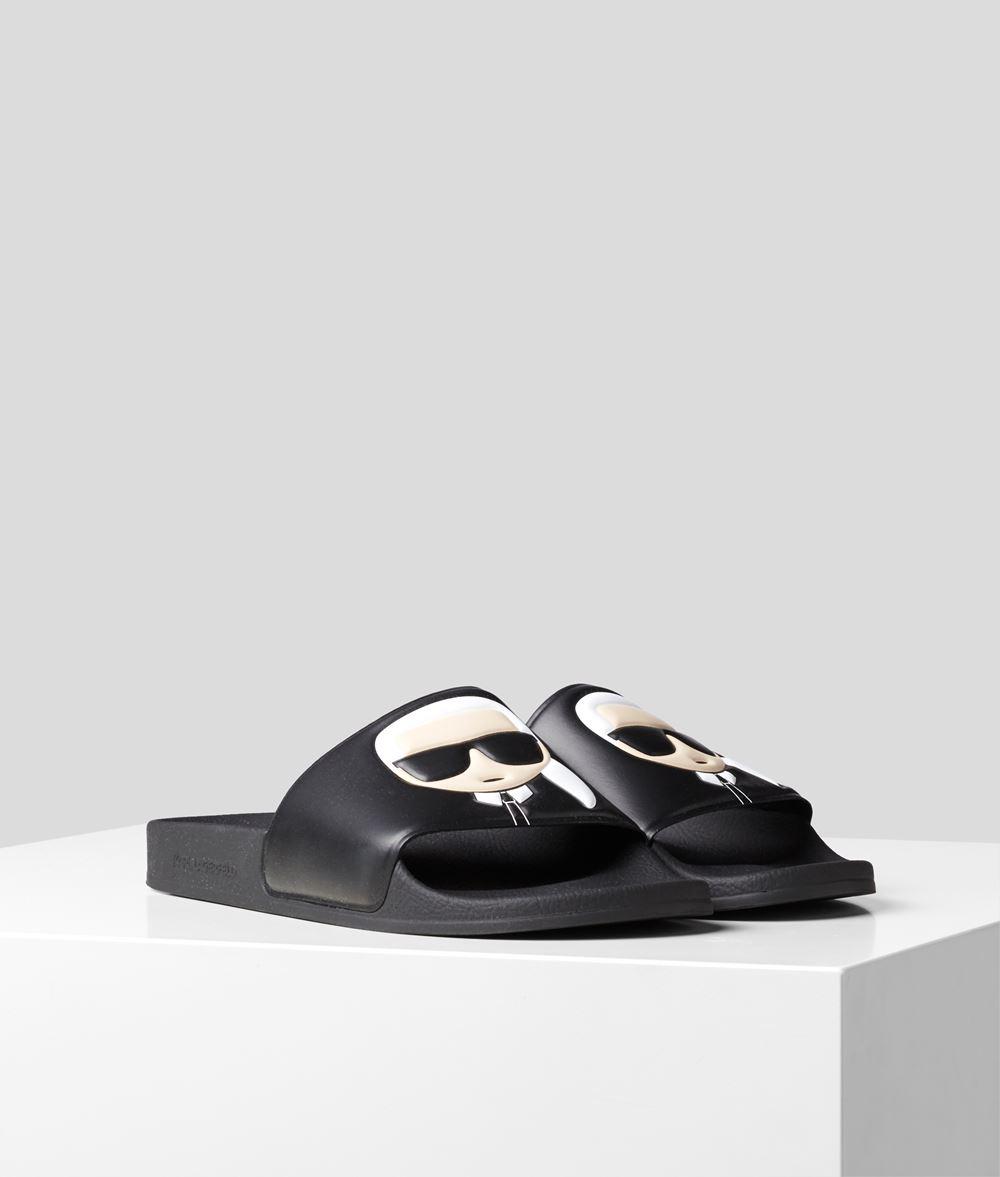 KARL LAGERFELD Kondo Karl Ikonik Slide Sandal Woman f