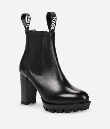 KARL LAGERFELD VOYAGE GORE ANKLE BOOTS