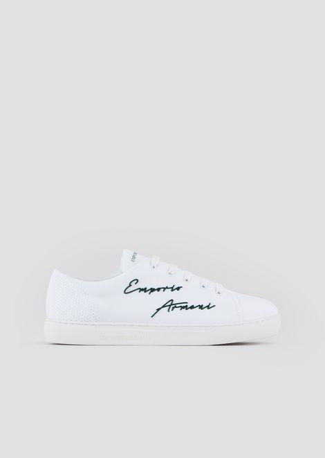 Sneakers with Emporio Armani signature