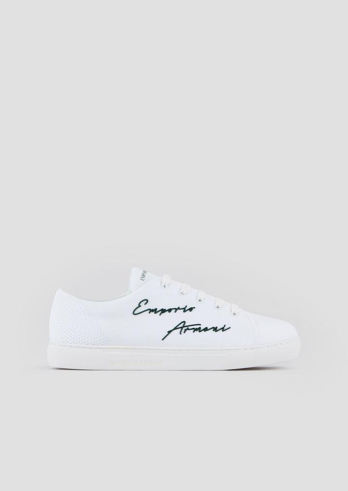89aca48044 Sneakers with Emporio Armani signature | Man | Emporio Armani