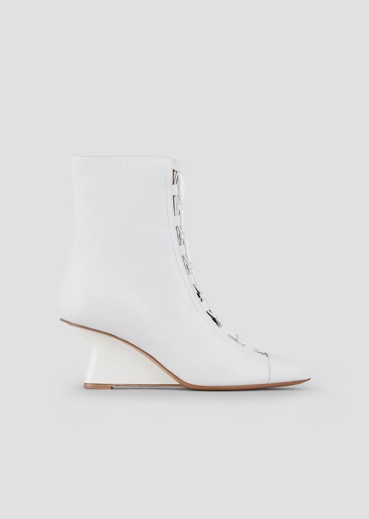 423fa44a77 Ankle boots in nappa leather with strap and asymmetric wedge