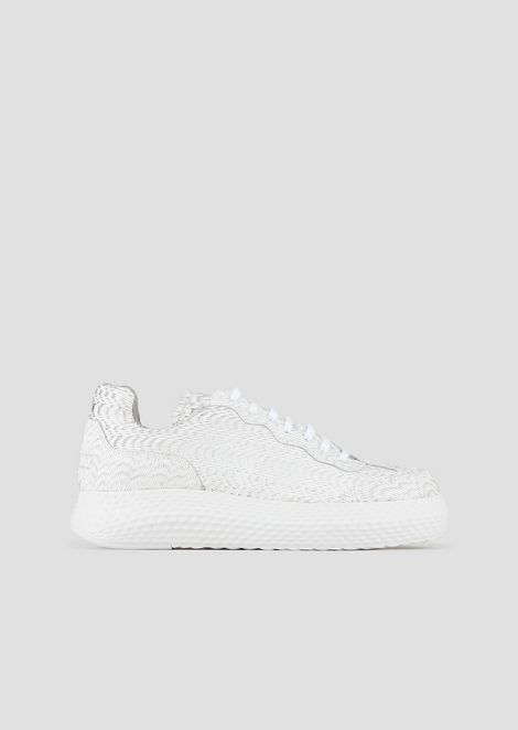 5346122f1 Sneakers in textured leather with contoured sole