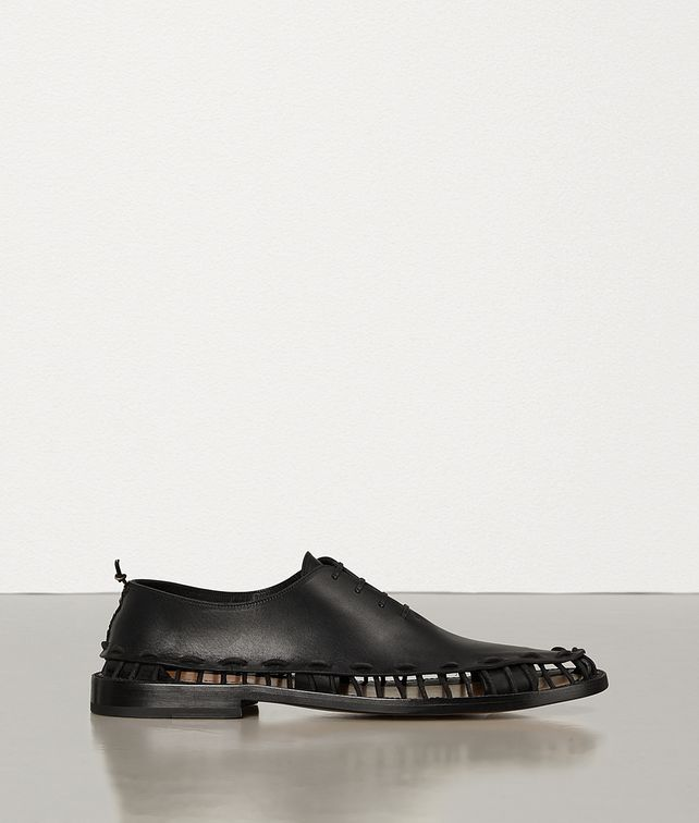 BOTTEGA VENETA LACE-UP SHOES IN STORM CUIR Lace Ups Man fp