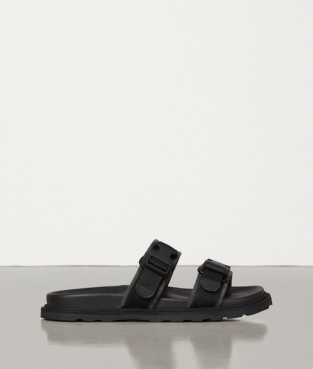 BOTTEGA VENETA SANDALS IN CALFSKIN AND CANVAS Sandals [*** pickupInStoreShippingNotGuaranteed_info ***] fp