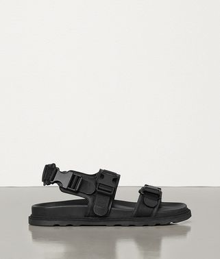 SANDALS IN CALFSKIN AND CANVAS