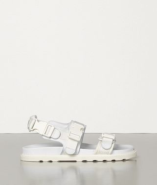 SANDALS IN CALF AND CANVAS