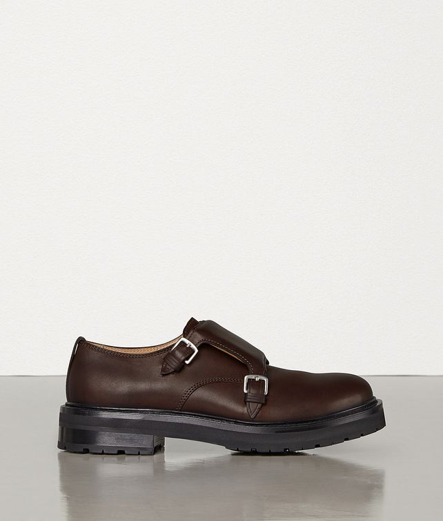 BOTTEGA VENETA MONK STRAP SHOES IN STORM CUIR Lace Ups Man fp