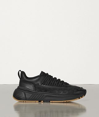 LACE-UP SPEEDSTER TRAINERS IN STORM CUIR