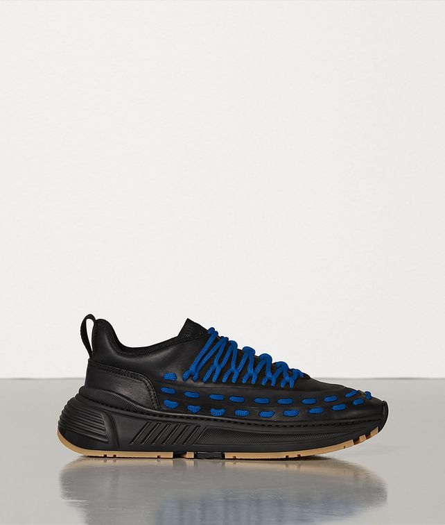 BOTTEGA VENETA LACE-UP SPEEDSTER TRAINERS IN STORM CUIR Trainers Man fp