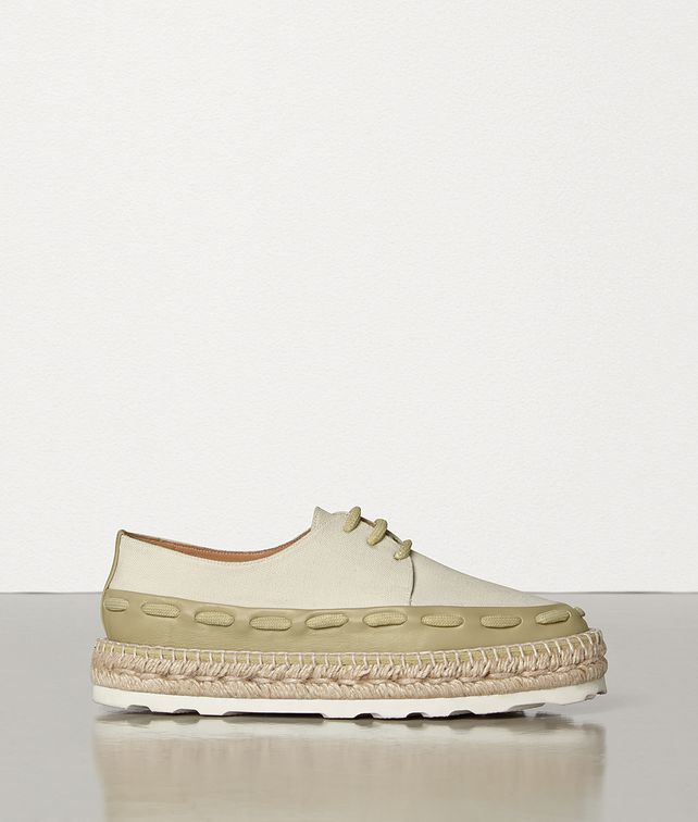 BOTTEGA VENETA ESPADRILLES IN CANVAS AND CALFSKIN Espadrilles Woman fp
