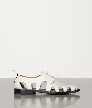 LACE-UP SHOES IN STORM CUIR