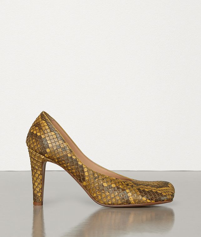 BOTTEGA VENETA BLOC PUMPS IN PYTHON LEATHER  Pump Woman fp