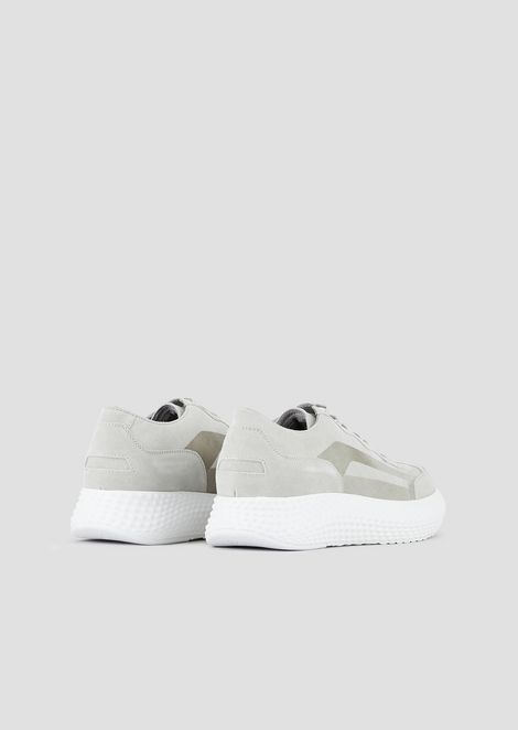 Sneakers in suede with 3D oversized sole