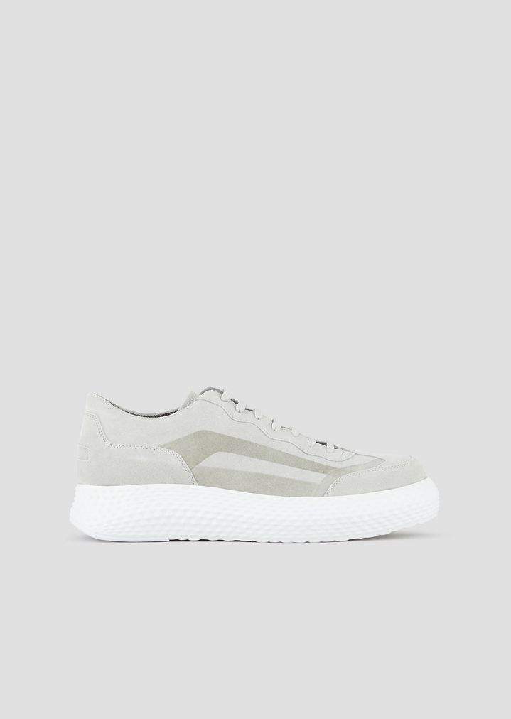 91a3e8d4f7 Sneakers in suede with 3D oversized sole