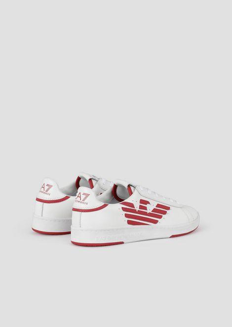 Sneakers en cuir avec logo imprimé