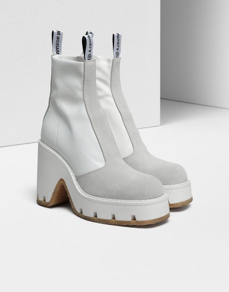 MM6 MAISON MARGIELA Textured ankle boots Ankle boots Woman d