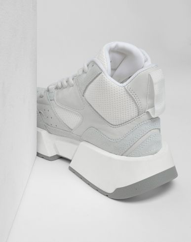 SHOES High-top flare runners Light grey