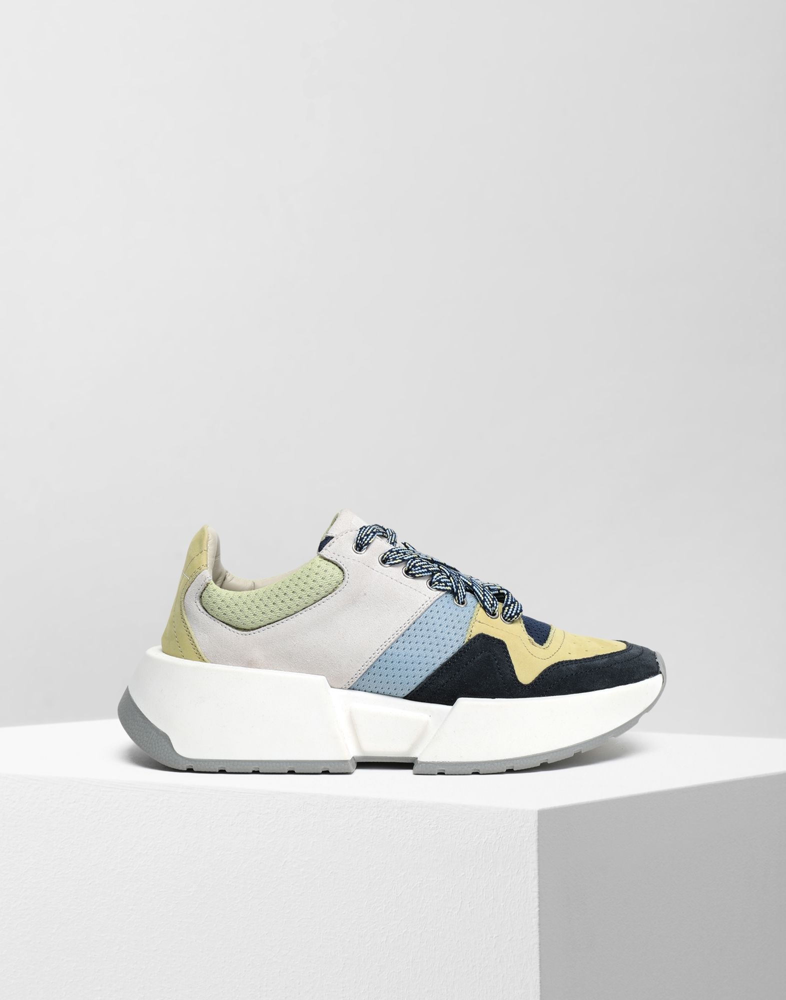 MM6 MAISON MARGIELA Colour block leather sneakers Sneakers Woman f