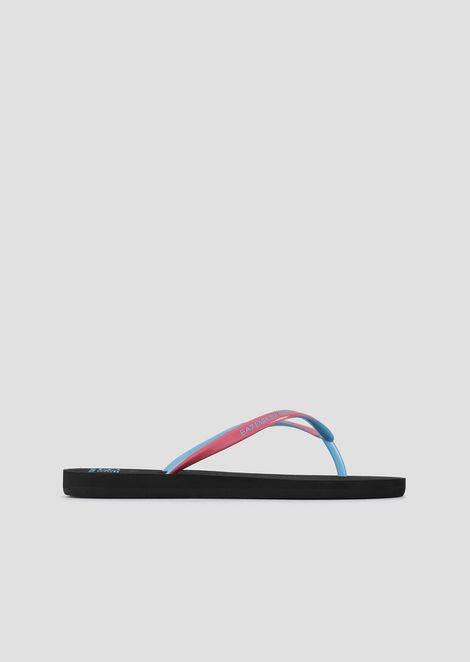 Flip-flops in rubber with logo