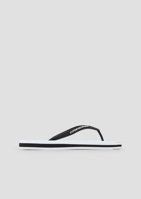 1a8717bec Flip-flops with contrasting maxi-logo