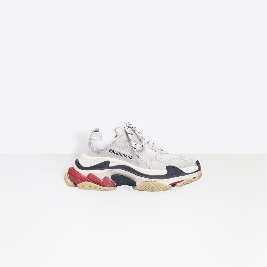 Balenciaga Womens Triple s Sneakers Running Shoes A001