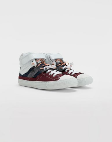 SHOES Evolution high-top sneakers Maroon