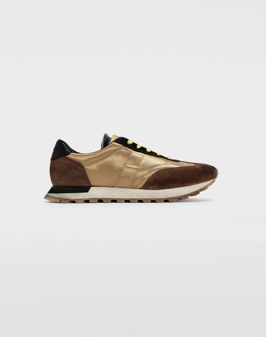 SHOES Colour block runners Gold