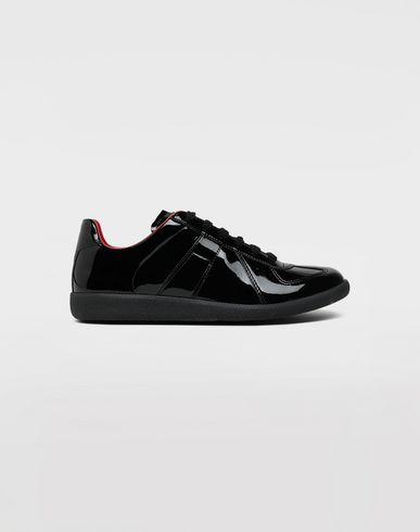 SHOES Replica patent leather sneakers Black