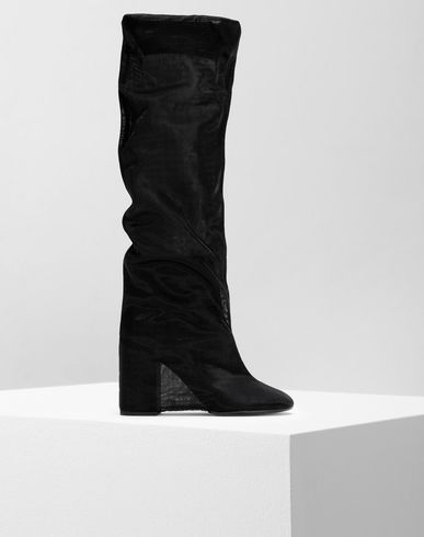 SHOES Covered knee-high boots Black