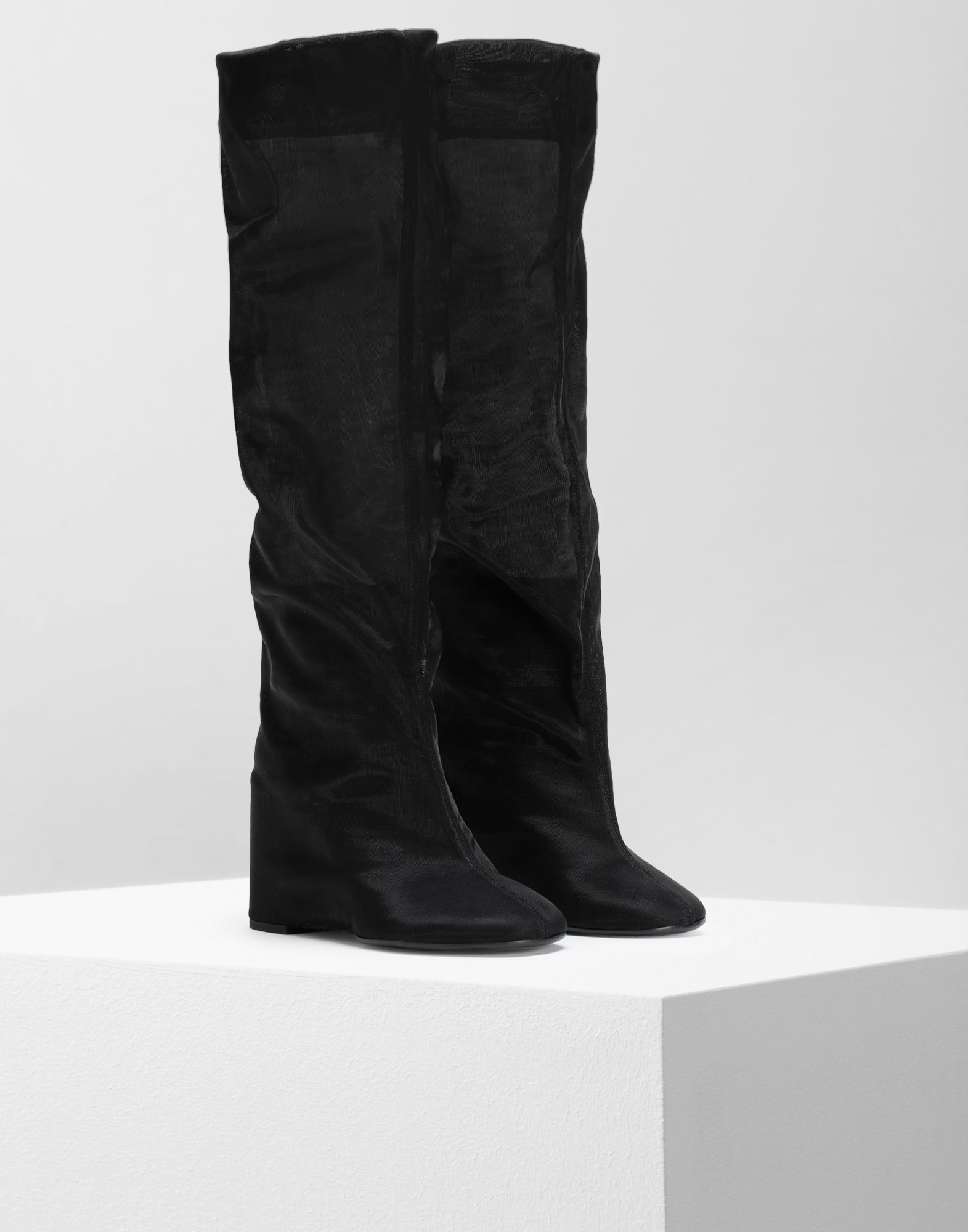 MM6 MAISON MARGIELA Covered knee-high boots Boots Woman d