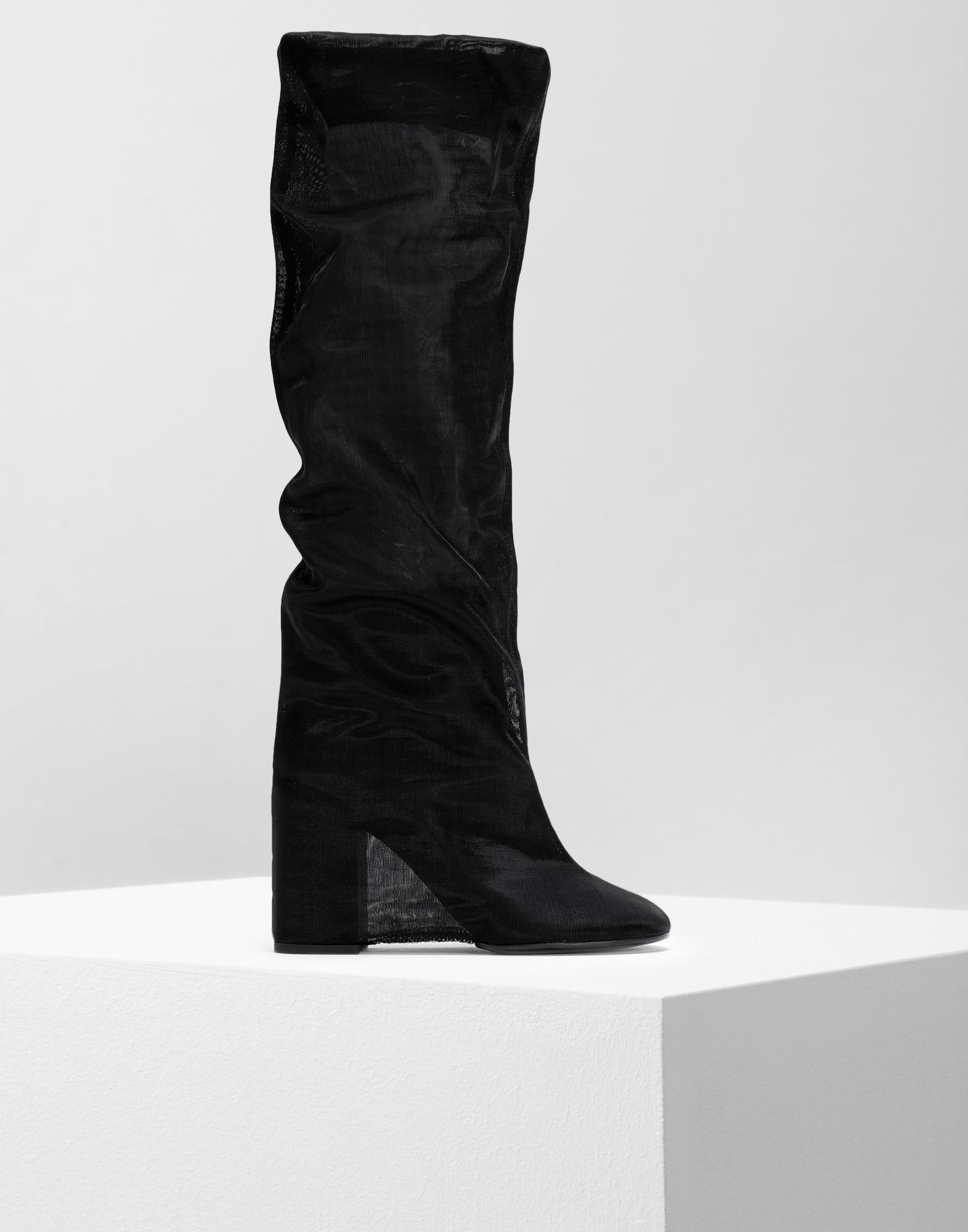 MM6 MAISON MARGIELA Covered knee-high boots Boots Woman f