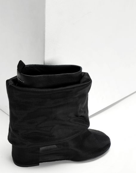 MM6 MAISON MARGIELA Covered knee-high boots Boots Woman a