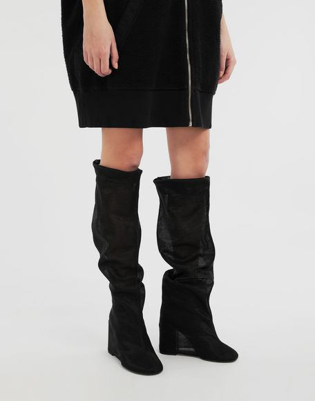 MM6 MAISON MARGIELA Covered knee-high boots Boots Woman r
