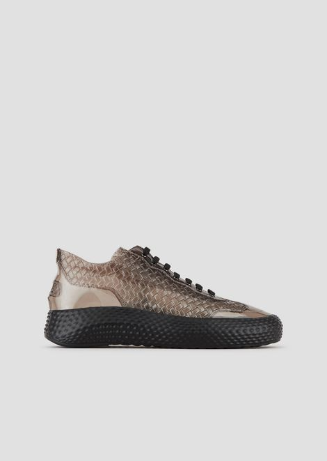 d02ea57ff Sneakers in woven-effect rubber with contoured sole