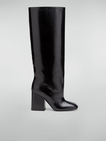 Marni Pipe-shaped boot in leather trousers effect Woman f