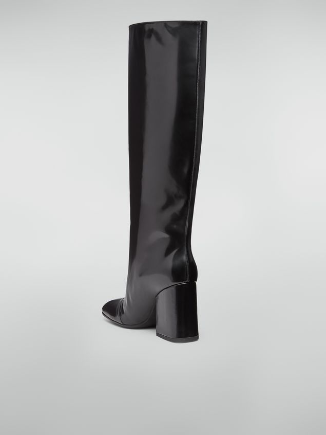 Marni Pipe-shaped boot in leather trousers effect Woman