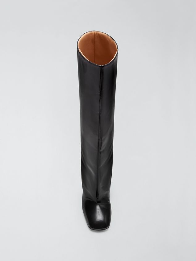 Marni Pipe-shaped boot in leather trousers effect Woman - 4