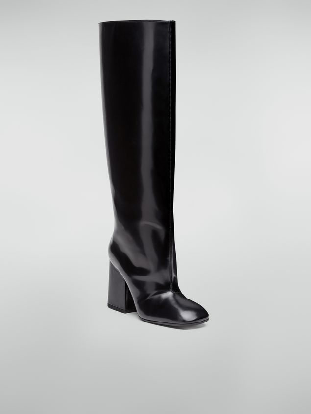 Marni Pipe-shaped boot in leather trousers effect Woman - 2