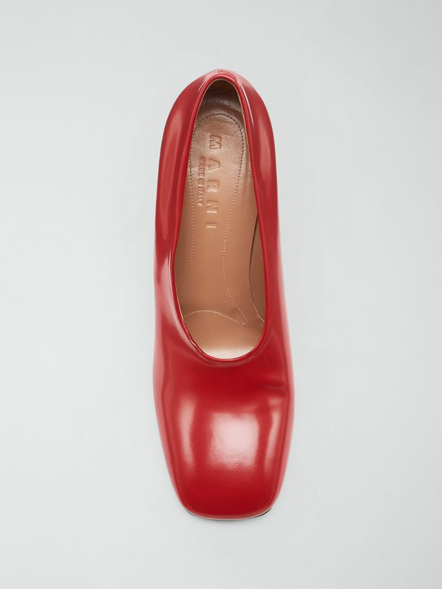 Marni Rising upper pump in red polished leather  Woman - 4