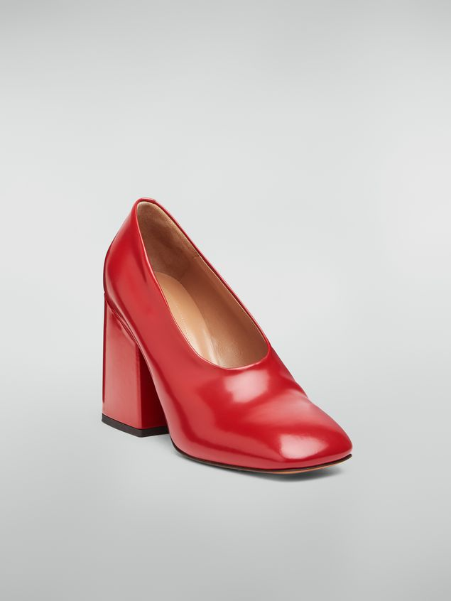 Marni Rising upper pump in red polished leather  Woman - 2