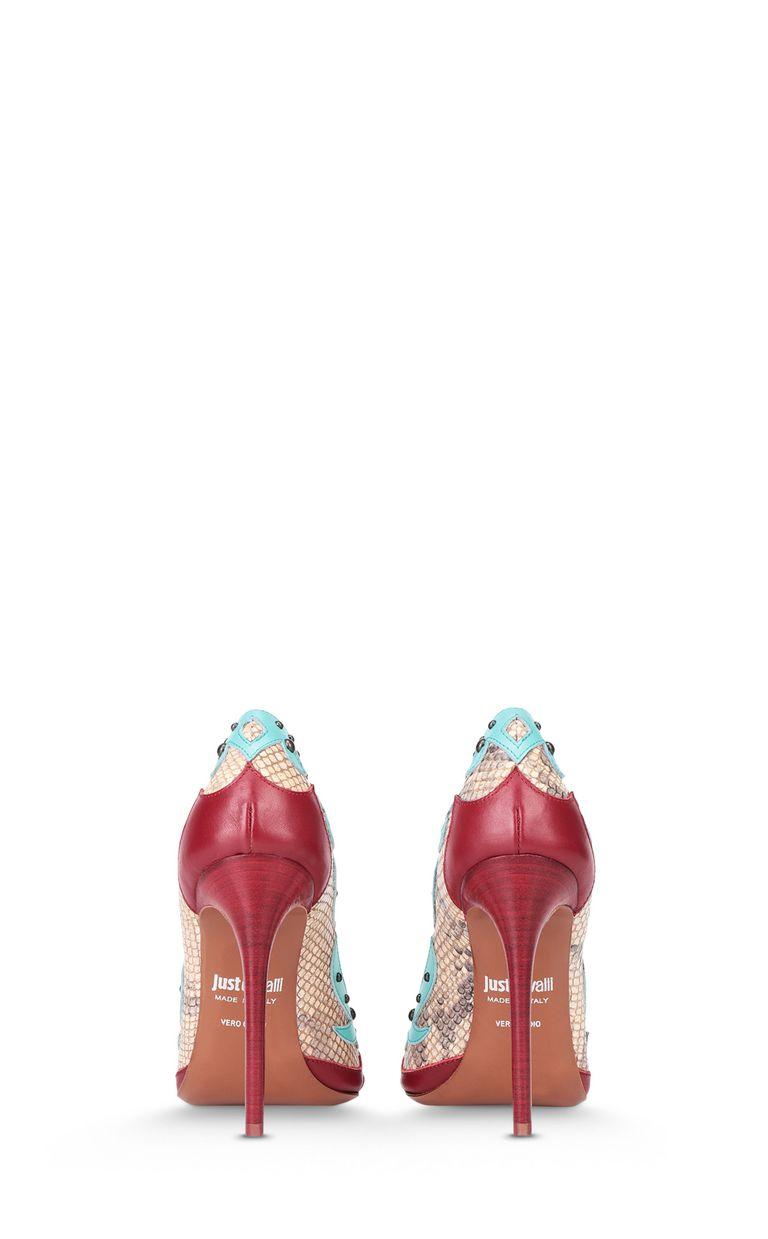 JUST CAVALLI Python-pattern studded court shoe Pump Woman d