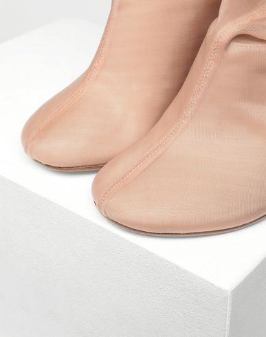 SHOES Covered leather mules Skin color