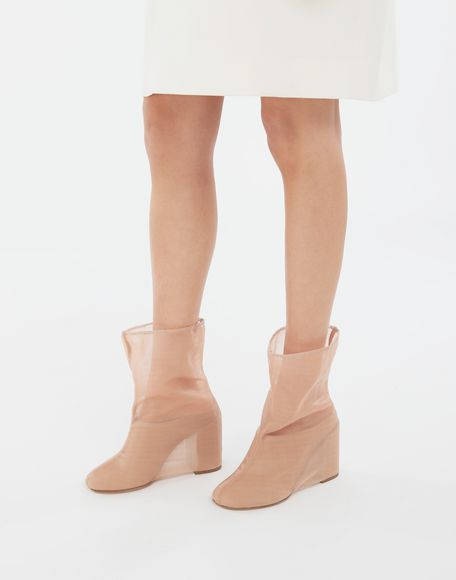 MM6 MAISON MARGIELA Covered leather mules Ankle boots Woman r