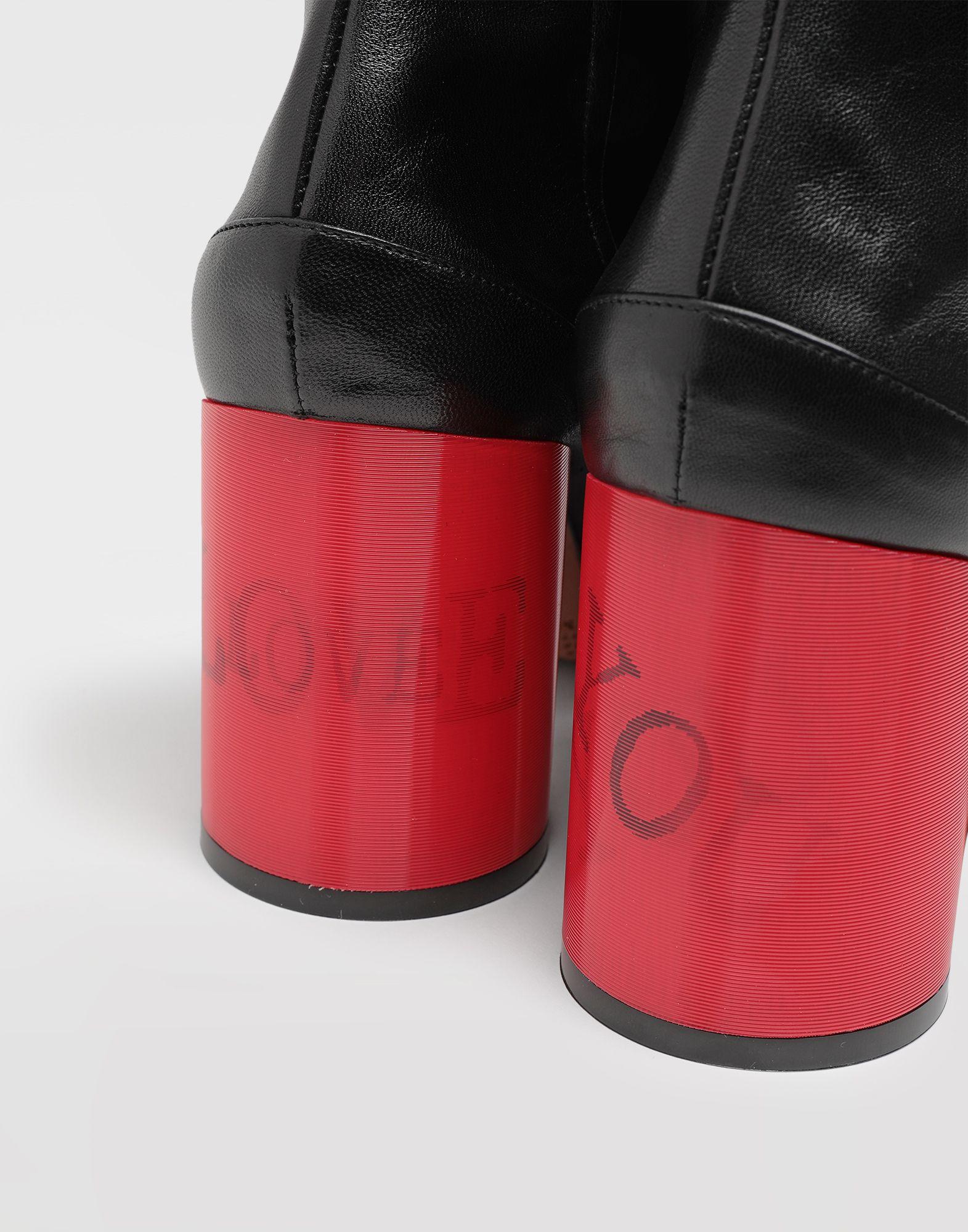 MAISON MARGIELA Tabi hologram leather boots Tabi boots & Ankle boots Woman b