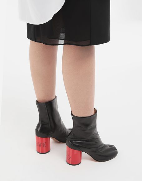 MAISON MARGIELA Tabi hologram leather boots Tabi boots & Ankle boots Woman r