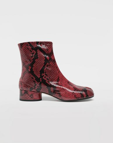 MAISON MARGIELA Tabi python-effect calfskin boots Tabi boots & Ankle boots Woman f