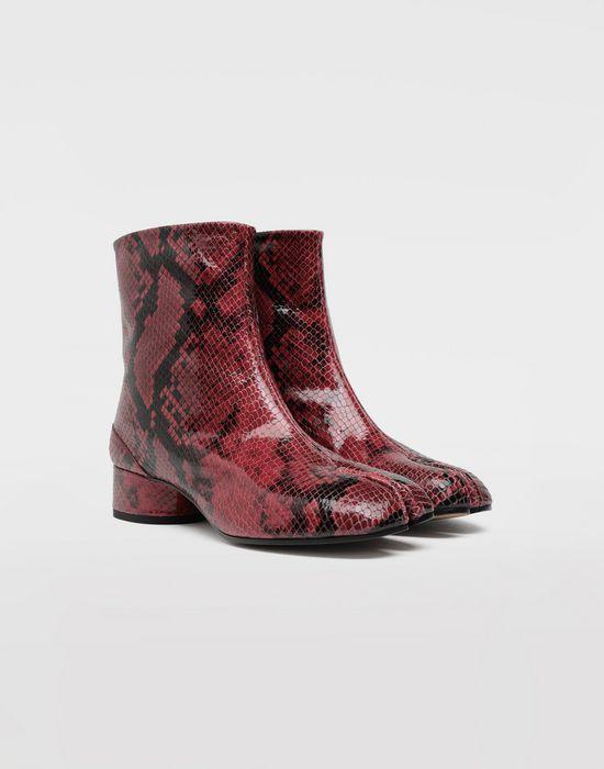 df82bf7ce85 Maison Margiela Tabi Python Effect Calfskin Boots Women | Maison ...