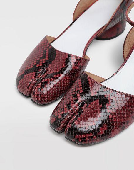 MAISON MARGIELA Tabi python-effect ankle strap pumps Tabi ballet flats Woman a