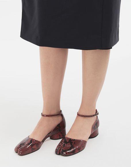 MAISON MARGIELA Tabi python-effect ankle strap pumps Tabi ballet flats Woman r